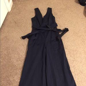 JCrew wrap-tie jumpsuit in stretch poplin